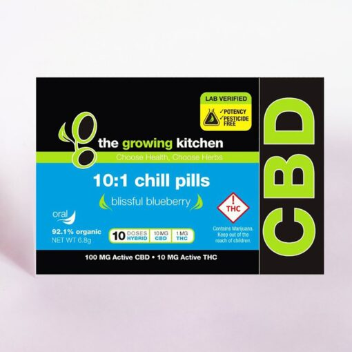 Chill Pills Hard Candy 100mg active cbd, 10mg thc