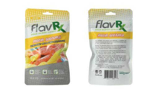 Flavrx Neon Worm Gummy